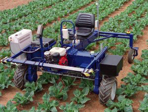 Experimental autonomous vision guided robotic spot spraying vehicle