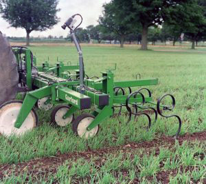 Experimental vision guided inter-row cultivator